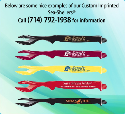 Below are some nice examples of our Custom Imprinted Sea-Shellers Call (714) 792-1938 for information